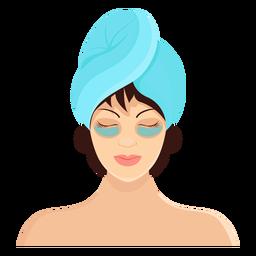 Ilustração de toalha morena de máscara