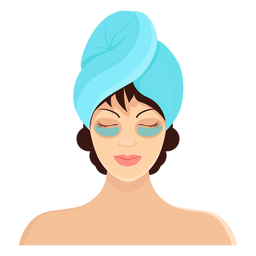 Mask brunette towel illustration