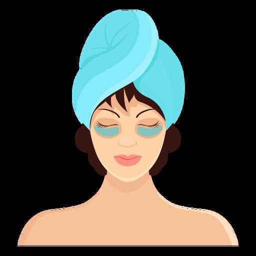 Ilustração de toalha morena de máscara Transparent PNG