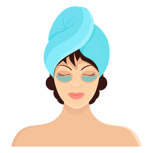 Mask brunette towel illustration Transparent PNG
