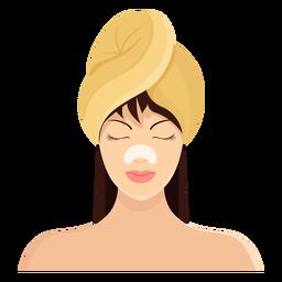 Máscara franja marrón pelo toalla ilustración