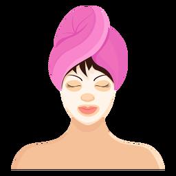 Máscara franja ilustración toalla morena