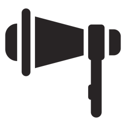 Megaphone loudspeaker silhouette