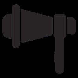 Silueta de altavoz megáfono