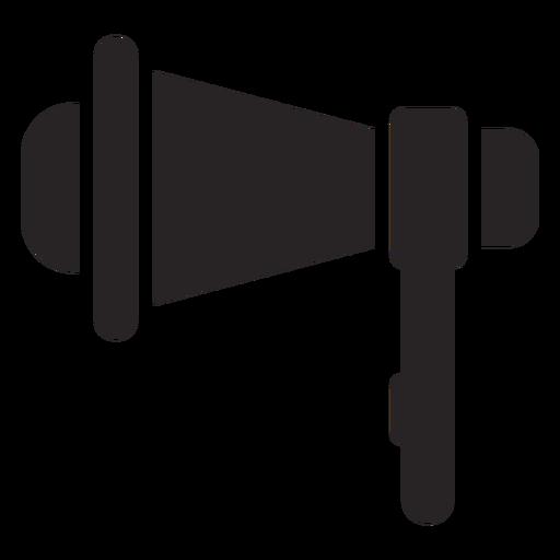 Silhueta de alto-falante de megafone Transparent PNG