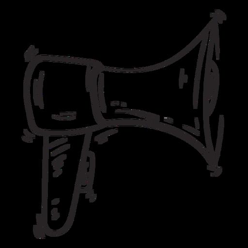 Esboço de alto-falante de megafone Transparent PNG