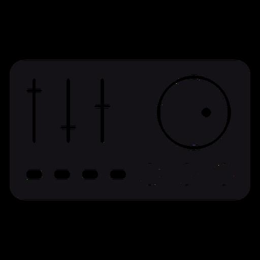 Mezclador silueta musica Transparent PNG