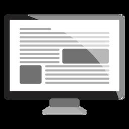 Ilustração da tela do monitor