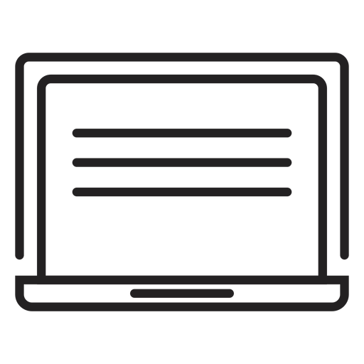 Monitor screen stroke Transparent PNG