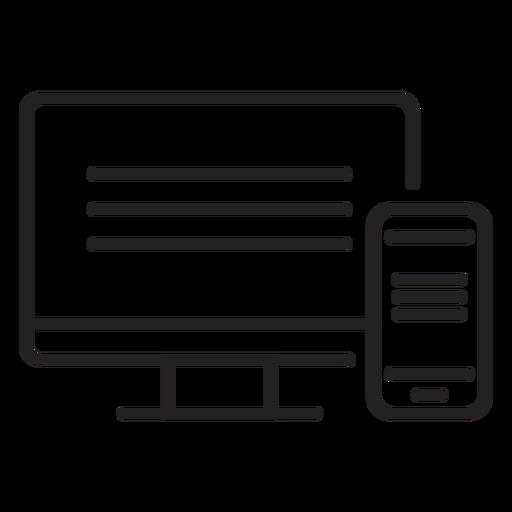 Monitor stroke Transparent PNG