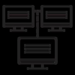 Monitorar três traços de conexão