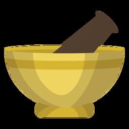 Ilustração de pilão de argamassa