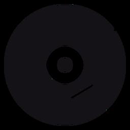 Silueta de disco de música