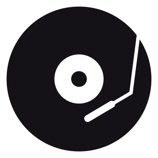 Music record silhouette Transparent PNG