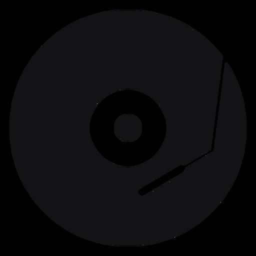 Silueta de grabación de música Transparent PNG