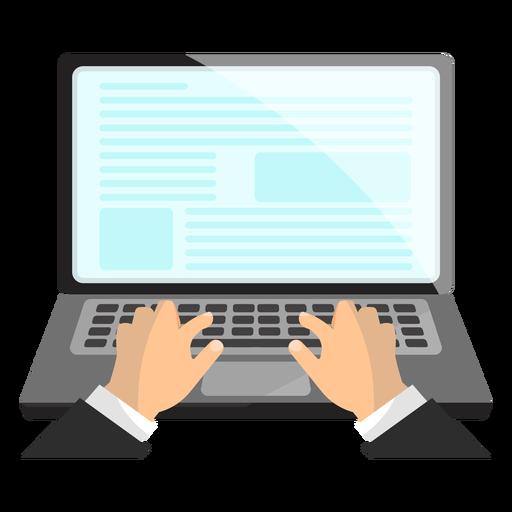 Notebook laptop hand illustration