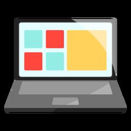 Ilustración portátil portátil