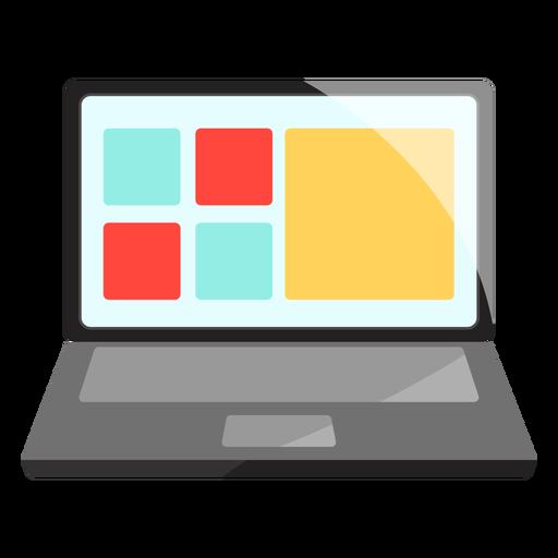Ilustração de laptop notebook Transparent PNG