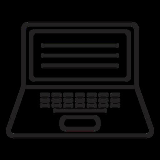 Notebook laptop stroke Transparent PNG