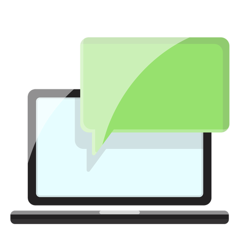 Ilustração de mensagem de notebook Transparent PNG