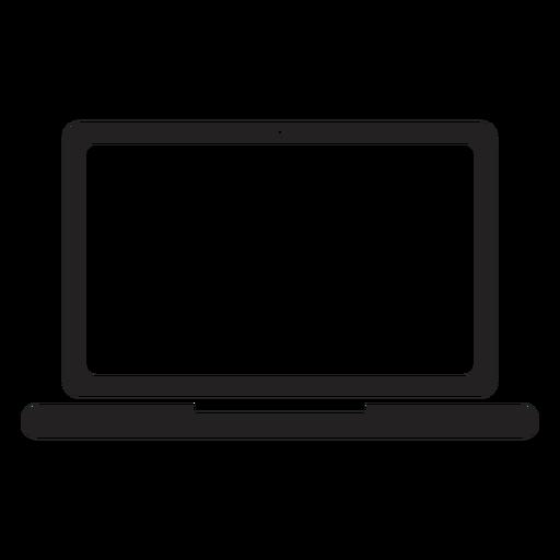 Silueta de cámara de pantalla de portátil