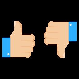 Ok, como não gosta de ilustração par polegar