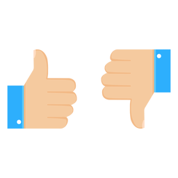 Ok like dislike thumb pair illustration