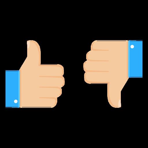 Ok like dislike thumb pair illustration Transparent PNG