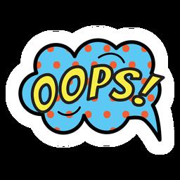 Oops sticker