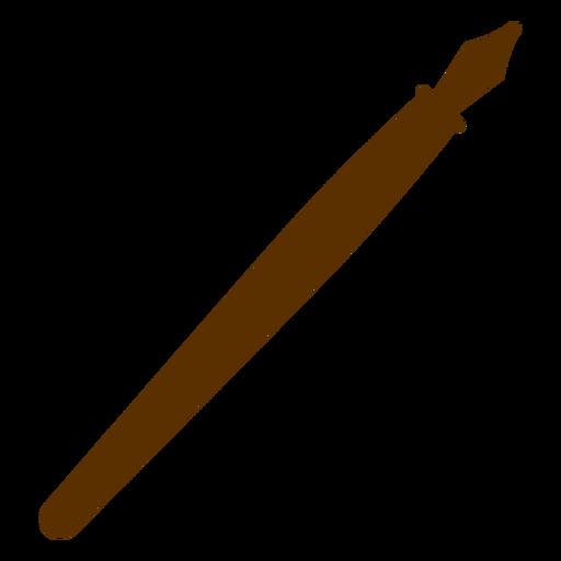 Silueta de pluma Transparent PNG
