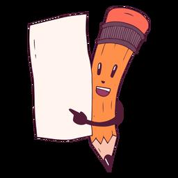 Ilustração de folha de papel a lápis