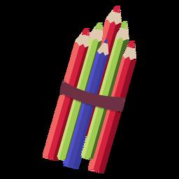 Ilustração de pilha de lápis