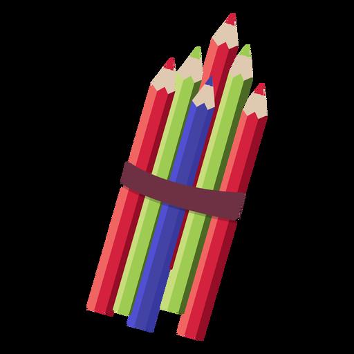 Ilustración de pila de lápices Transparent PNG