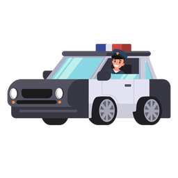 Police car policeman illustration