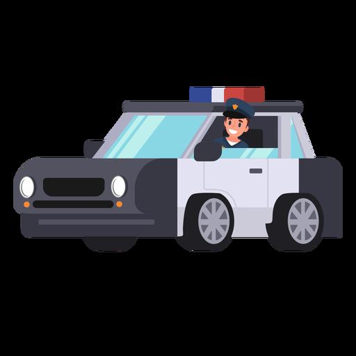 Ilustração de policial de carro de polícia Transparent PNG