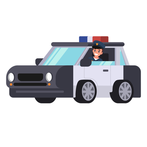 Police car policeman illustration Transparent PNG