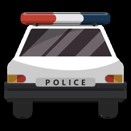 Ilustración de intermitente de coche de policía