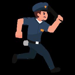 Ilustración de persecución del policía