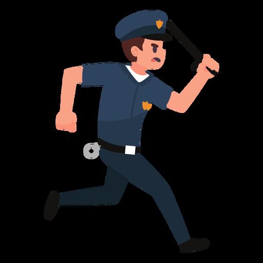 Ilustración de persecución del policía Transparent PNG