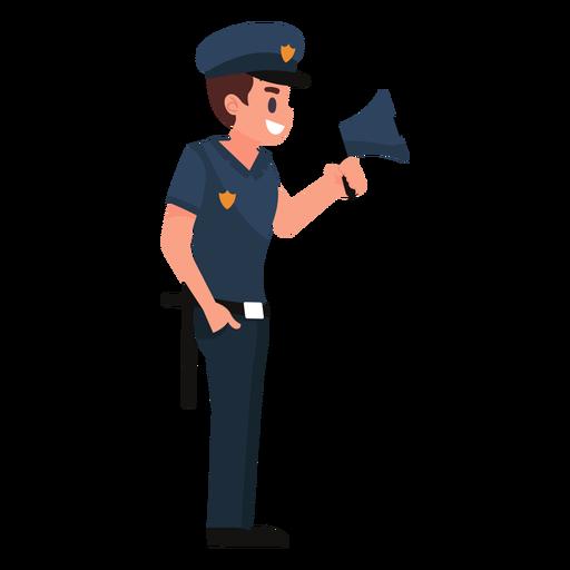 Policeman megaphone illustration Transparent PNG