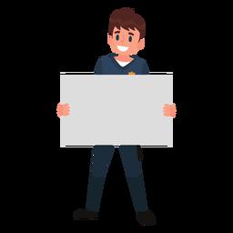 Ilustración de papel de policía