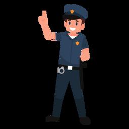 Ilustração uniforme de policial