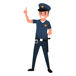 Policeman uniform illustration