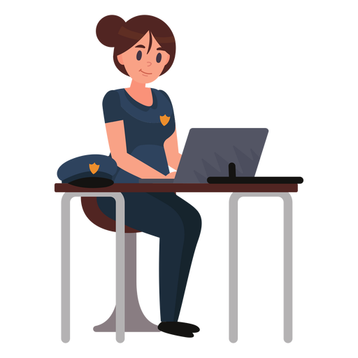Policewoman notebook illustration Transparent PNG