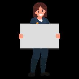 Ilustración de papel de mujer policía