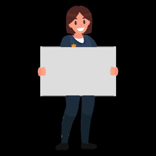 Policewoman paper illustration Transparent PNG