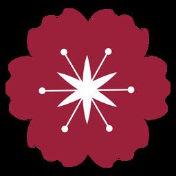 Flor de amapola silueta