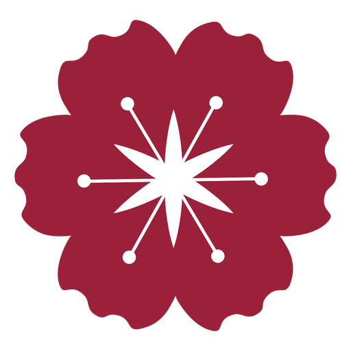 Poppy flower silhouette Transparent PNG