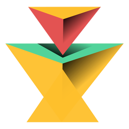 Pyramid triangle 3d apex flat