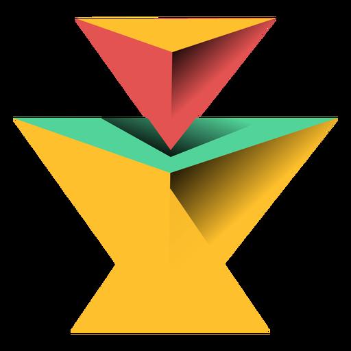 Pirámide triángulo 3d ápice plana Transparent PNG